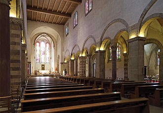 Abbey of Echternach - Inside the St Willibrord basilica