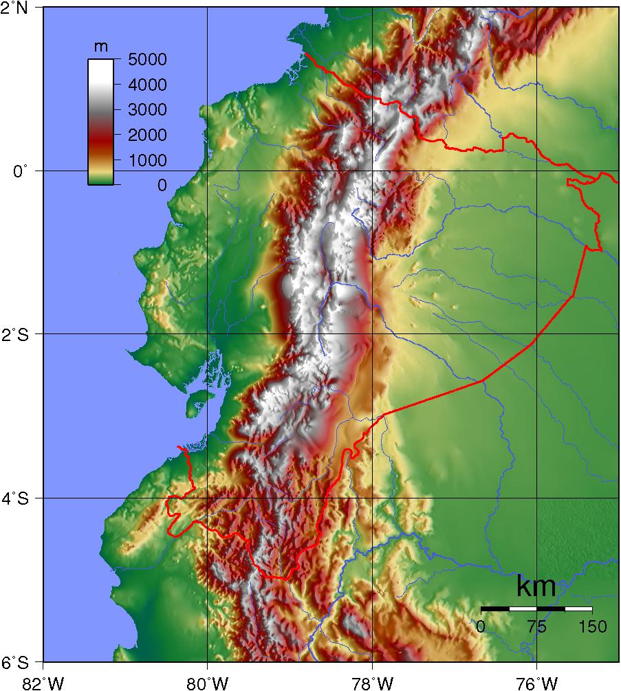 Ecuador Topography