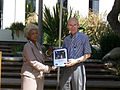 Ed Stone Voyager 30th anniversary award from Nichelle Nichols.jpg