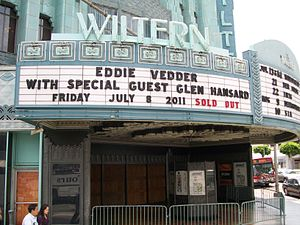 Ukulele Songs - Sign outside the Wiltern Theatre, Los Angeles, in 2011