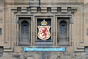 Nemo me impune lacessit - The motto above the entrance to Edinburgh Castle