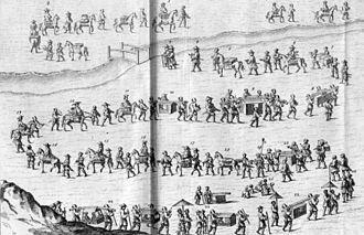 """Engelbert Kaempfer - Court Journey to the shōgun of Japan in 1691 (Engelbert Kaempfer: """"De Beschryving van Japan"""", 1729)"""