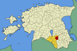 Otepää Parish within Valga County.