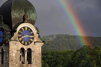 Eglisau - A rainbow around the church