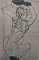 Egon Schiele. Squatting Woman from The Graphic Work of Egon Schiele (1914, published 1922) (25094434225).jpg
