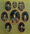 Eight Portraits of Naser al-Din Shah Qajar and Mozaffar ad-Din Shah Qajar in Different Ages of Their Life.jpg