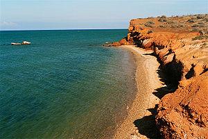 Spanish: Playa El Amor, Isla de Coche, Nueva E...