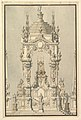 Elevation of a Catafalque with royal Crown and Order of the Golden Fleece, for a Duke of Lorraine, probably Leopold (d. 1729) MET DP820099.jpg