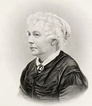 Women's Loyal National League - Image: Elizabeth Cady Stanton by HB Hall