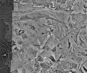 Ellis Unit - Aerial photograph of the Ellis and Estelle units, March 8, 1989, U.S. Geological Survey