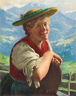 Emil Rau - Young Lass Smiling