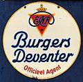 Enamel advertising sign, Burgers Deventer, Officieel Agent.JPG