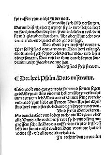 Es woll uns Gott genädig sein 1524 sacred Song with lyrics by Martin Luther