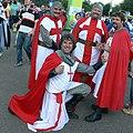 English fans Rugby World Cup 2007 - Knight ! Samoa vs England Pool A RWC 2007.jpg