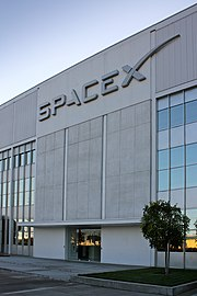 Entrance to SpaceX headquarters