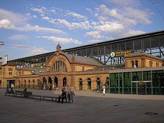 Erfurt Hauptbahnhof railway station in Erfurt, Germany
