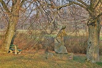 Erlking - Statue depicting the Erlking in the ancient graveyard of Dietenhausen, in Keltern, Germany.