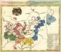 Ernestine Saxon duchies map, by F. Zollmann c 1750.png