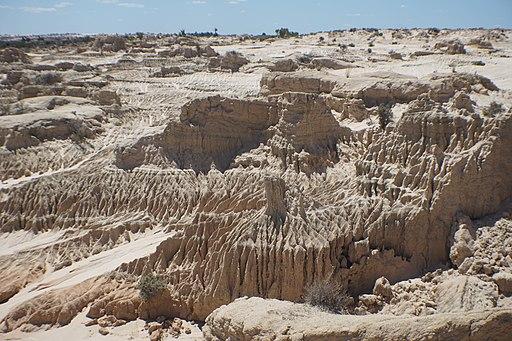 Erosion in Lake Mungo National Park