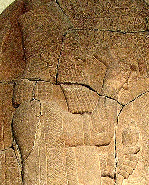 Esarhaddon - Esarhaddon, closeup from his victory stele