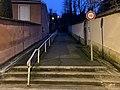 Escalier entre la Montée Neuve et la rue des Terreaux pour se rendre au Mas Rillier (nuit, février 2021).jpg