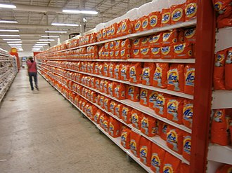 Shortages in Venezuela - Stores are often forced to fill shelves with items to create a false sense of being fully stocked, with food aisles filled only with miscellaneous items.