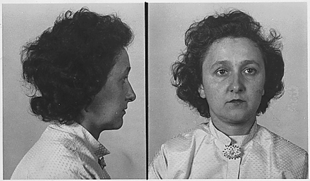 Mugshots of Ethel Rosenberg, arrested during grand jury Ethel Rosenberg mugshot.png