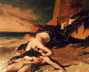 East Thrace - Image: Etty William Hero and Leander 1828