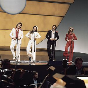 United Kingdom in the Eurovision Song Contest - Image: Eurovision Song Contest 1976 rehearsals United Kingdom Brotherhood of Man 20