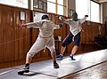 Evening training at Athenaikos Fencing Club with fencers from other clubs.jpg