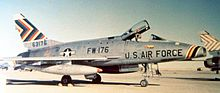 474th Tactical Fighter Wing Commanders' F-100D Super Sabre at Cannon AFB during the 1950s.