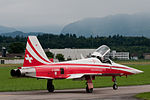 F-5E Tiger II Patrouille suisse taxiing rear quarter view 2010-07-24.jpg