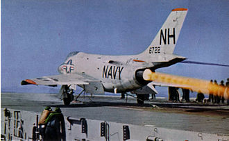 VF-114 - VF-114 F3H-2 launching from USS Hancock in 1960