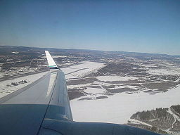 Fairbanks International Airport from air