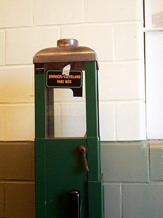 Fare - A basic farebox of circa 1950s manufacture