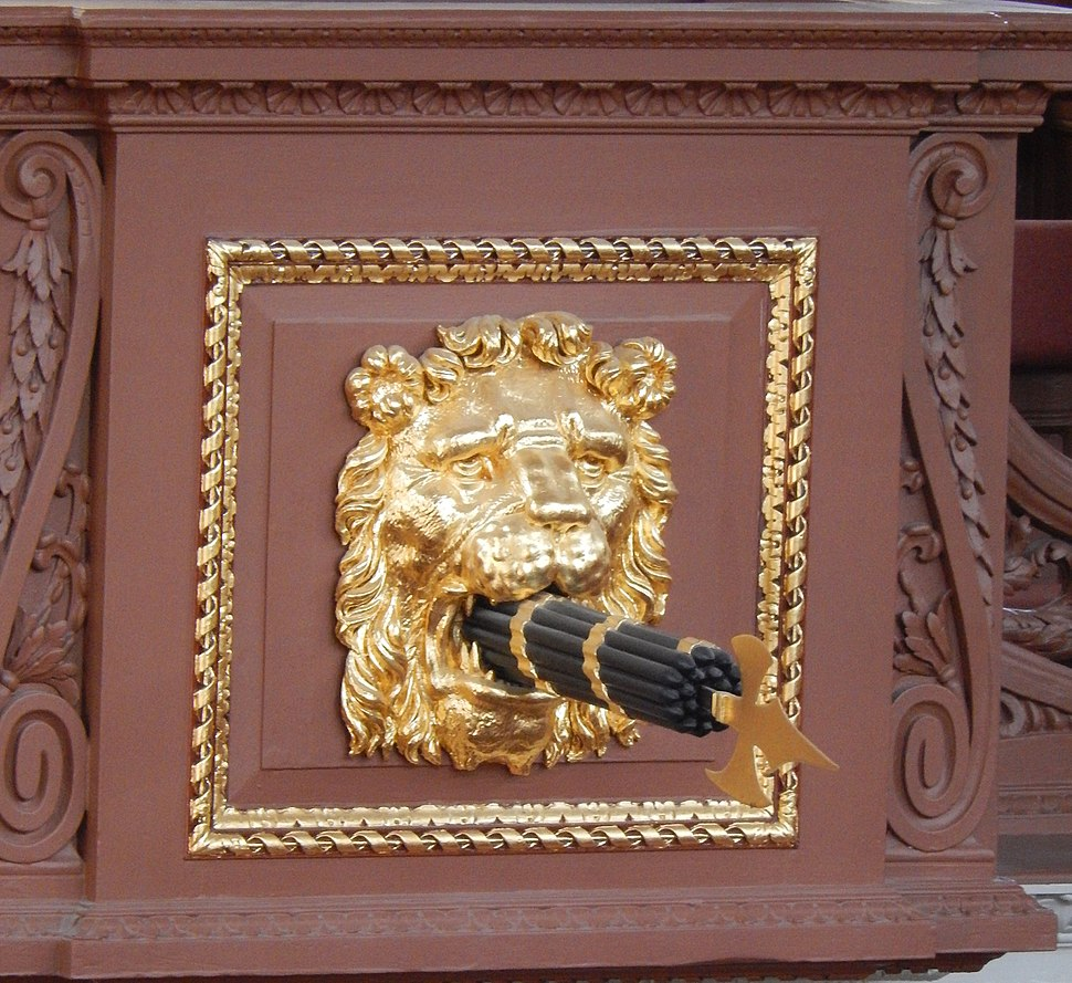 Fasces in the Sheldonian Theatre