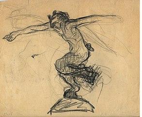 Faun  (drawing-sketch)