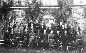 Anders Lange - Representatives for the Fatherland League in 1932; Anders Lange sits as number two from the left in the front row.