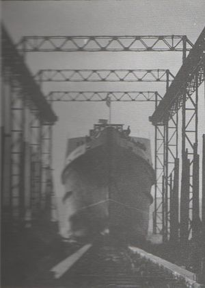 SS Fenella (1936) - Fenella is launched at Barrow; 16 December 1936.