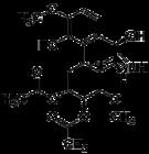 Kemia strukturo de Fenfangjine G.