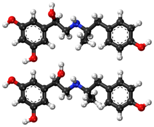 Fenoterol - Image: Fenoterol ball and stick model
