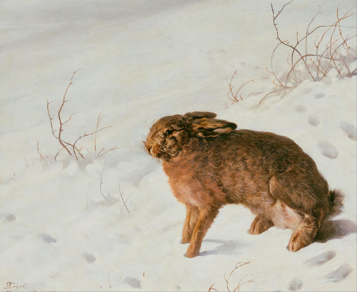 File:Ferdinand von Rayski - Hare in the Snow - Google Art Project ...