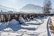 Ferlach Parkfriedhof Graeber mit Singerberg im Hintergrund 28012017 6213.jpg