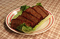 Festivus Meatloaf on a bed of lettuce.JPG