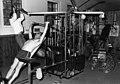 File-Black & white print; portrait-Libbey MemorialHot Springs Health Spa; rangers et al working out on exercise-equipment (8c0b1c99-760c-482f-8a16-e3bf0d326dea).jpg