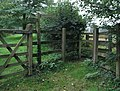 Fingerpost and kissing gate on Footpath 1384-2 - geograph.org.uk - 250711.jpg