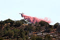 Fire retardant drop on La Barranca Fire (3910796876).jpg