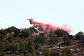 Fire retardant drop on La Barranca Fire (3910796876).jpg