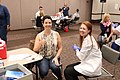 First Lady of Indiana Janet Holcomb gets a flu shot.jpg