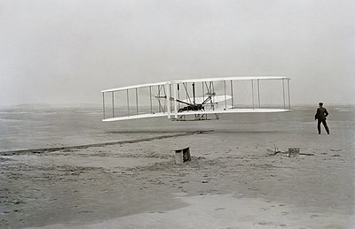 December 17: The first flight by Orville Wright. First flight2.jpg